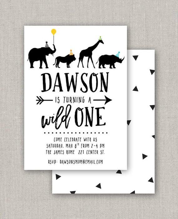 wild one birthday party invitation etsy