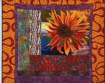 Fall sale A Hint of Fall, 44x47 inch quilted wallhanging