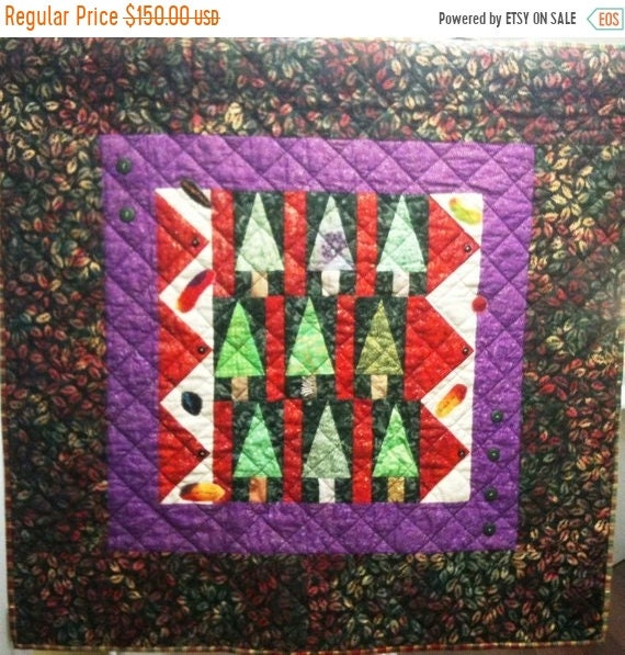 ON SALE Enchanted Forest Art Quilt