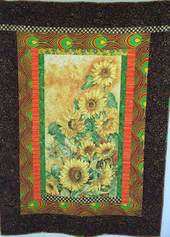 Sun in My Heart, 46x63 inch art quilt
