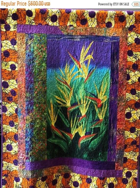 Holiday Sale Seek the Sun 48x61 inch art quilt