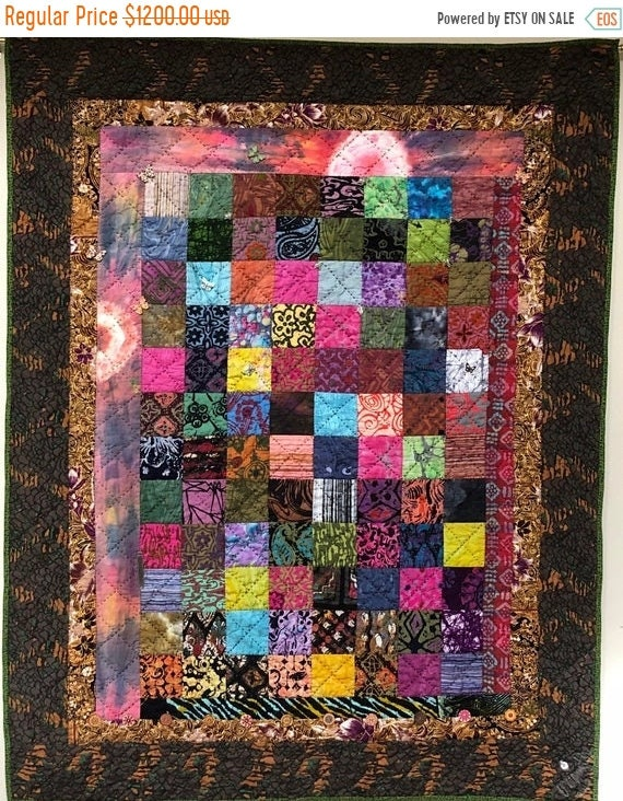 MLK Day Sale Playing in the Dirt 39x47 inch art quilt