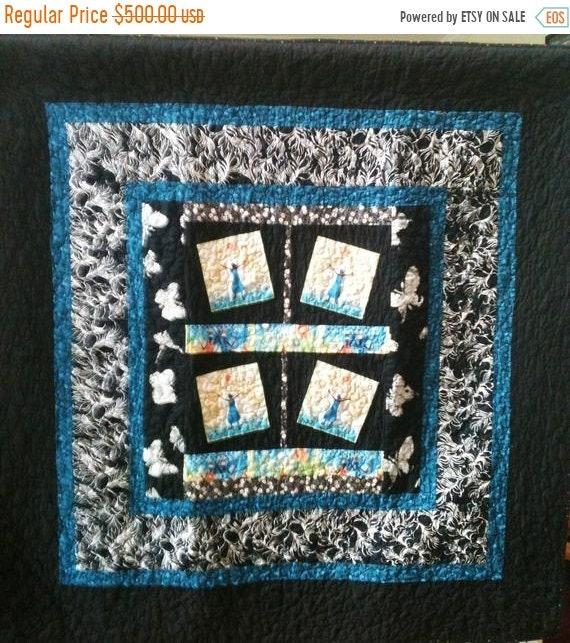 FALL SALE Rejoice Always a 50 x 50 inch ethnic art quilt