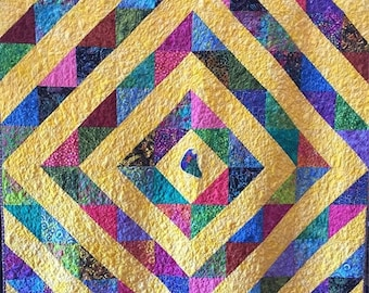 Hello Summer Sale Awaken! 60x72 inch cheerful art quilt