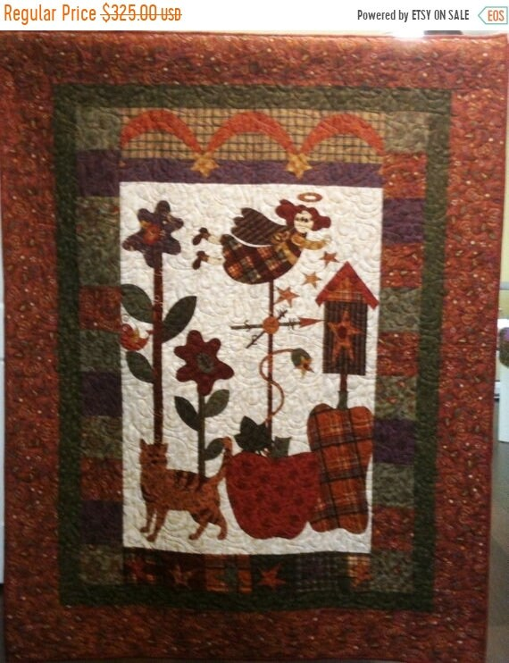 ON SALE I Believe in Country Angels Art Quilt