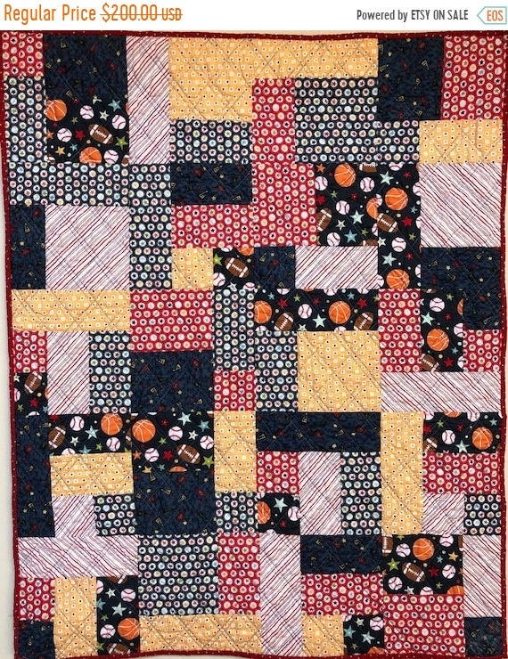 Fall sale Be the Team Captain 34x42 inch baby quilt