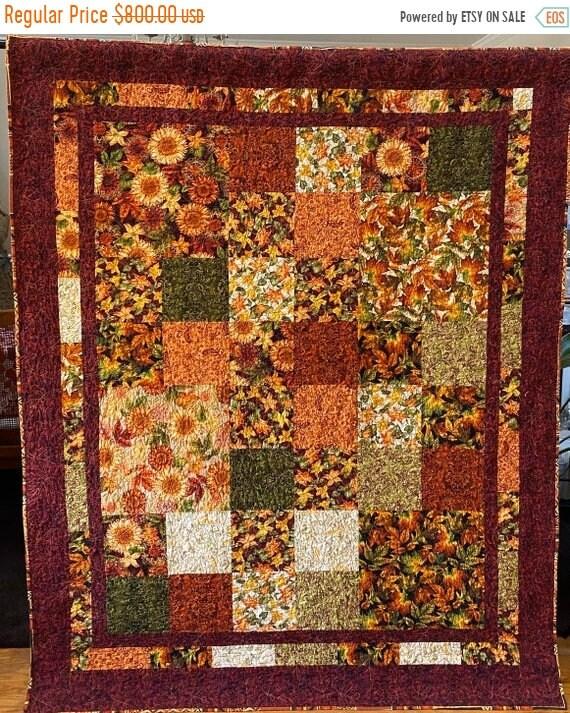 AQF sale Atlanta's Abundant Autumn lap quilt