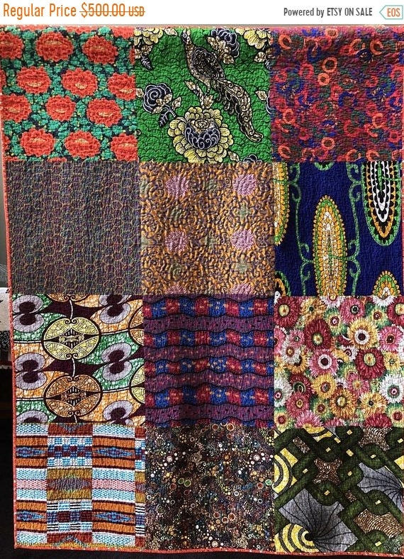 Black History Sale Bazaarly Big and Beautiful #6 49x65 inch lap quilt