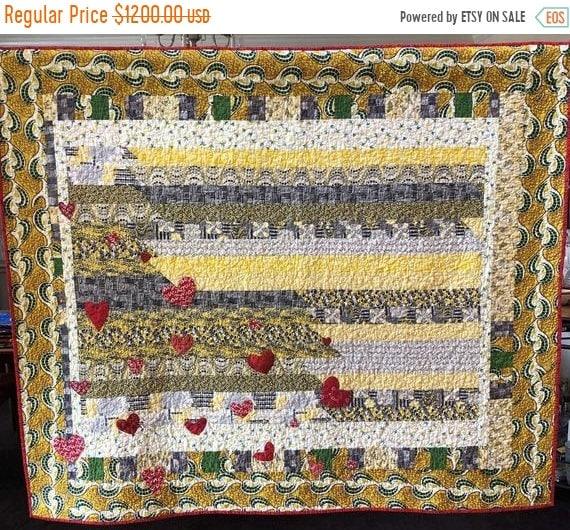 ATL QUILT FEST Love and Limoncello, 61x53 inch art quilt