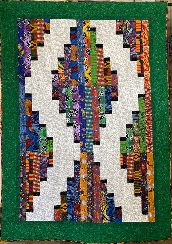 Quilters Gather Together, 47x66 inch quilted wallhanging