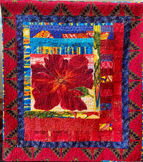 Be Confidently Daring art quilt