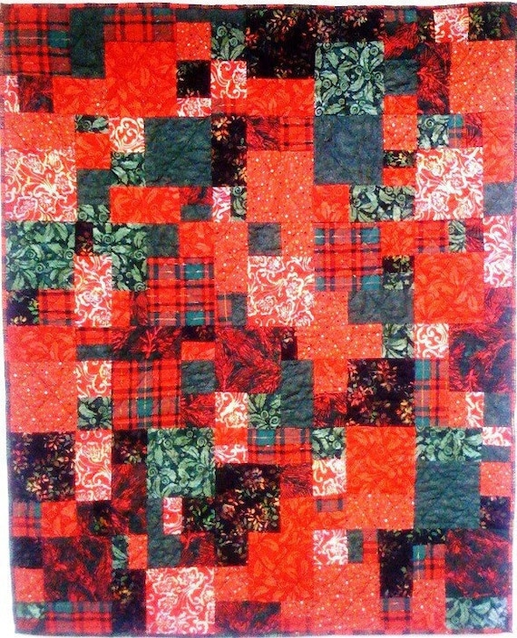 Christmas After You Left art quilt wallhanging