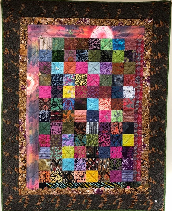 Playing in the Dirt 39x47 inch art quilt
