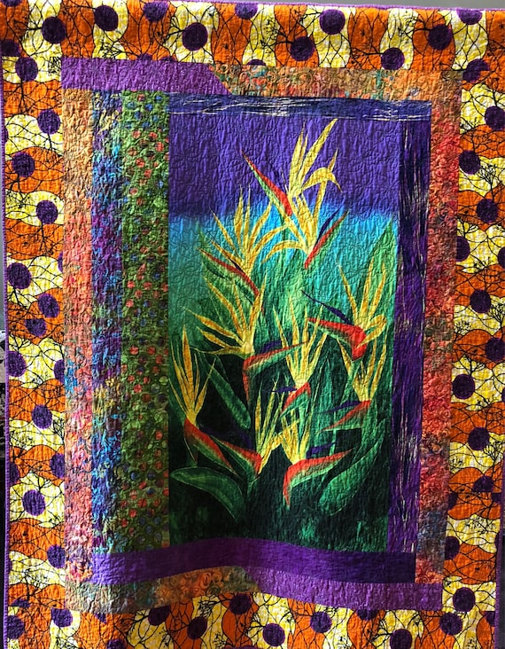 Seek the Sun 48x61 inch art quilt