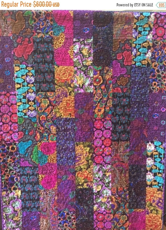 FALL SALE You Drive Me Crazy 54x72 inch art quilt