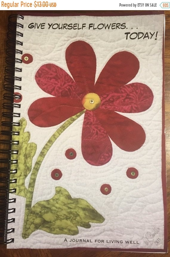 MLK Dream Sale Give Yourself Flowers Today journal or sketchbook