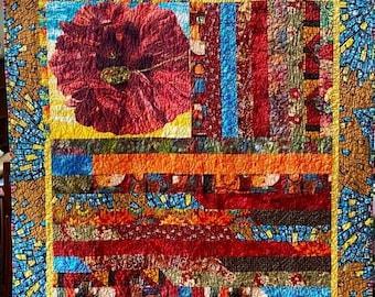 Fall sale Chasing Joy, a 51x55 inch art quilt