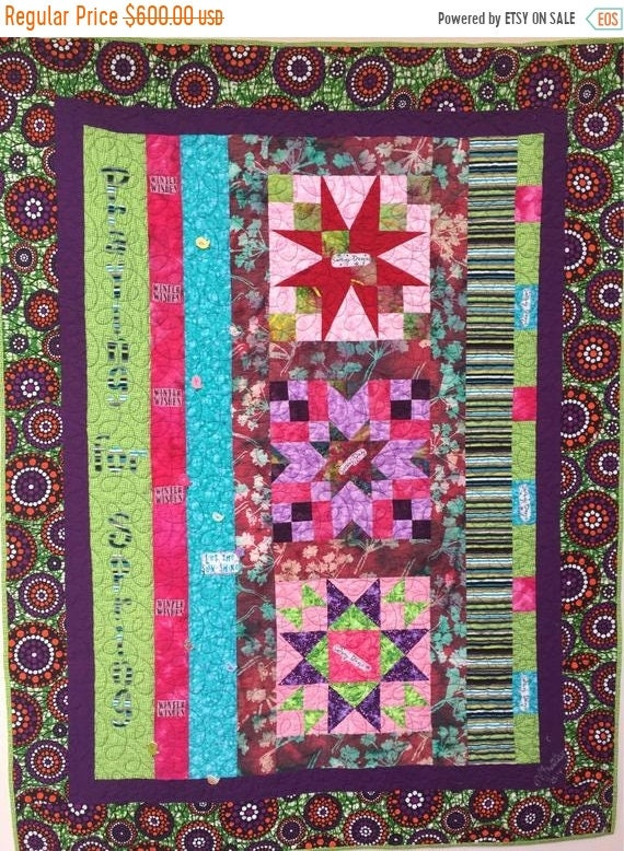 Holiday Sale Praying For Spring 43x56 inch art quilt