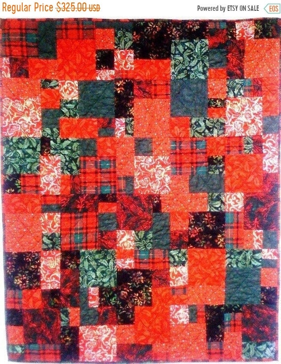 ON SALE Christmas After You Left art quilt wallhanging