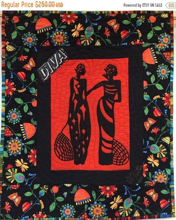 Black History Sale A Woman of Sophisticated Substance #10 art quilt