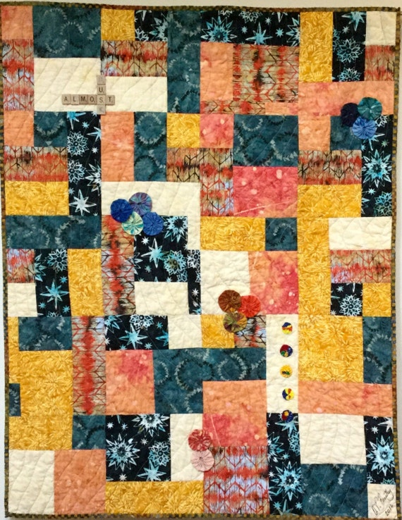 Just Before Dusk 36x45 inch quilted wallhanging