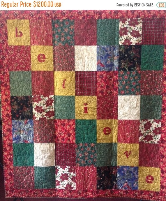 Almost Fall Sale Believe is a Christmas themed quilted wallhanging