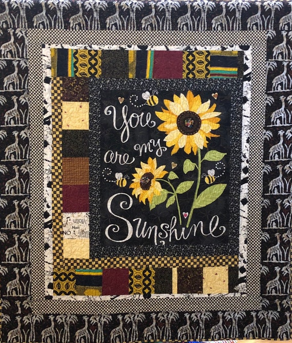 Do You Know You Are My Sunshine? 50x56 inch embellished art quilt