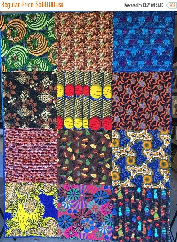On Sale Bazaarly Big and Beautuful #2 lap quilt or wallhanging