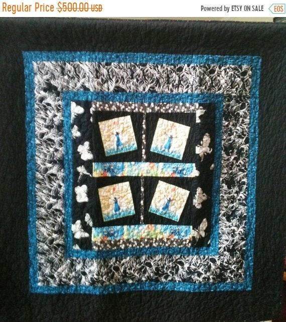 ON SALE Rejoice Always a 50 x 50 inch ethnic art quilt