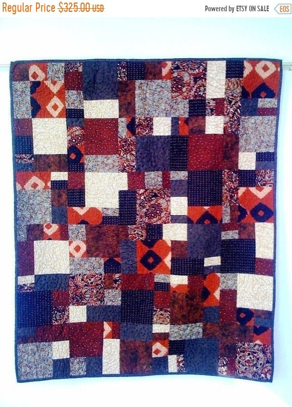 Juneteenth sale Hot Chocolate, 38 x 45 inch wallhanging quilt, 2008