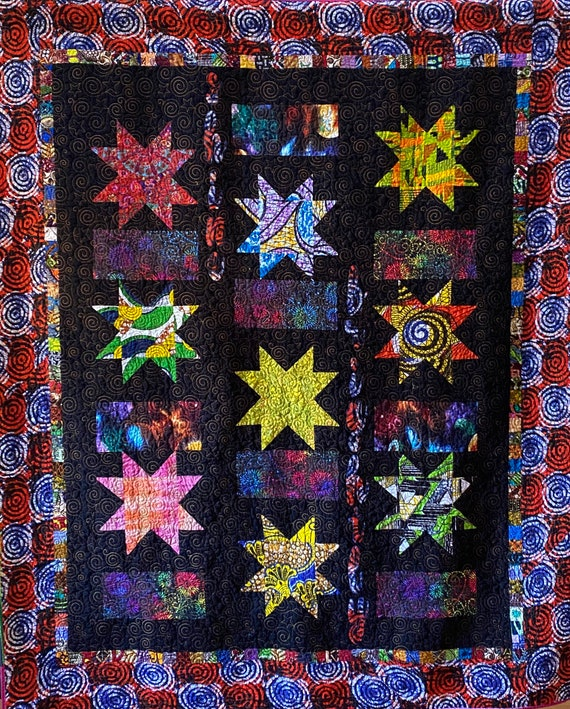 Be the Brightest Star art quilt