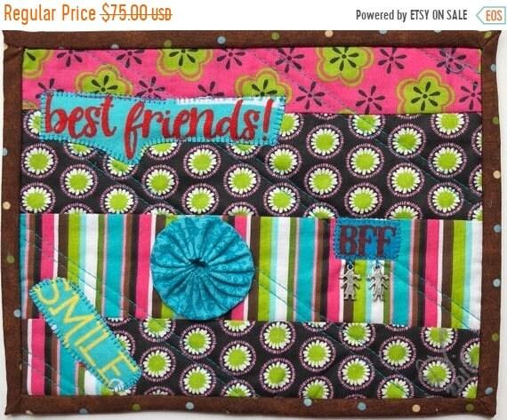 Hot Summer Sale Friendship #8 8x10 inch mini art quilt