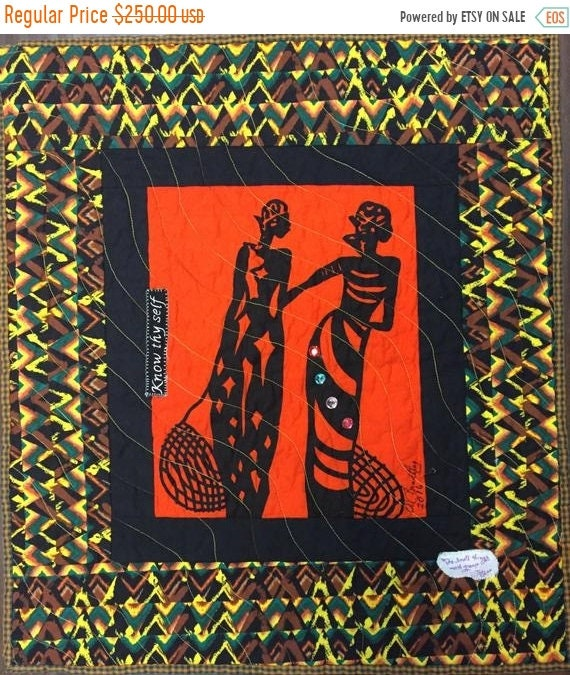 Black History Sale A Woman of Sophisticated Substance #12 art quilt