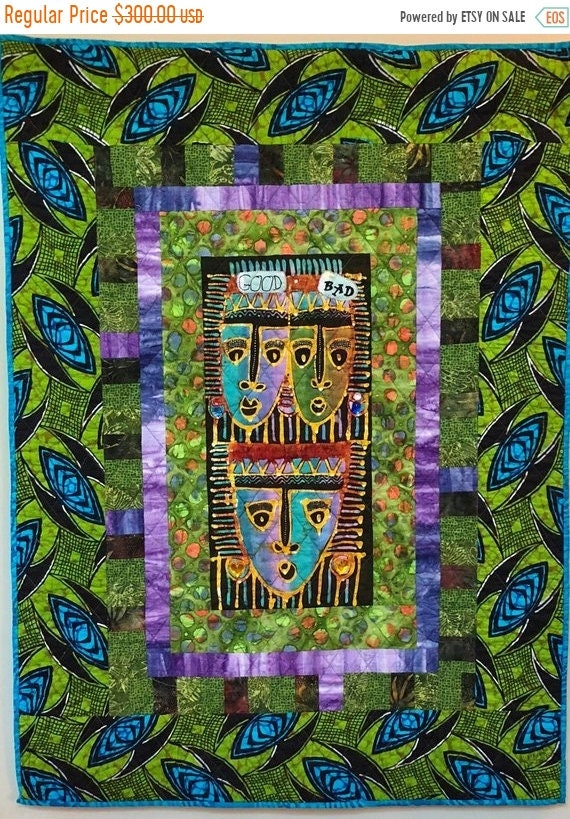 Almost Fall Sale My Evil Twin 33x45 inch art quilt