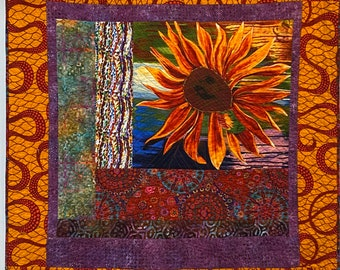 A Hint of Fall, 44x47 inch quilted wallhanging
