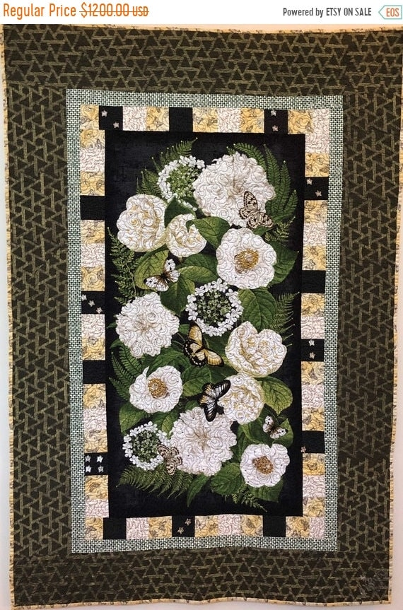 ATL QUILT FEST Give Yourself Flowers On Palm Sunday, 35 x52 inch embellished art quilt