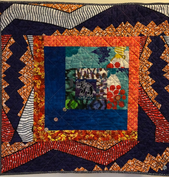 Kissed By An Elephant #1 art quilt