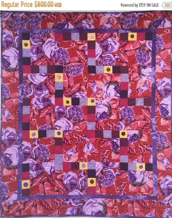 Black History Sale Feeling Fat? Give Yourself Big Purple Flowers art quilt