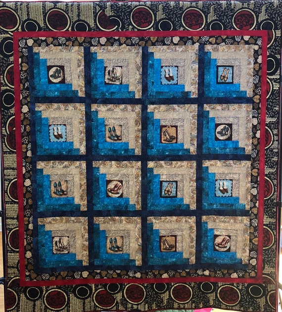 Sexy Shoe Fetish 58x65 inch art quilt