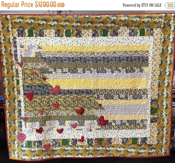 On Sale Love and Limoncello, 61x53 inch art quilt