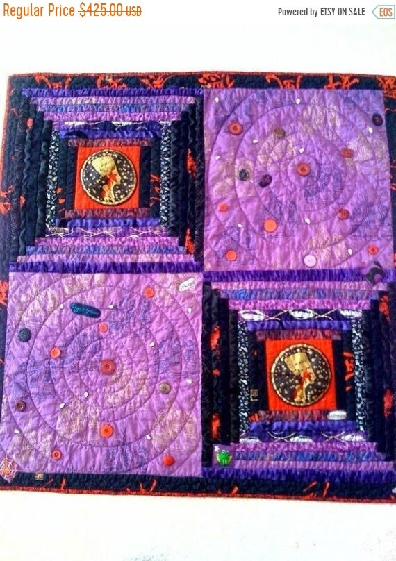 Juneteenth sale Wicked Woman, 36 x 36 inch wallhanging quilt, 2009.