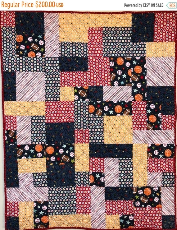 On Sale Be the Team Captain 34x42 inch baby quilt