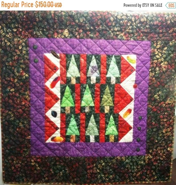 FALL SALE Enchanted Forest Art Quilt