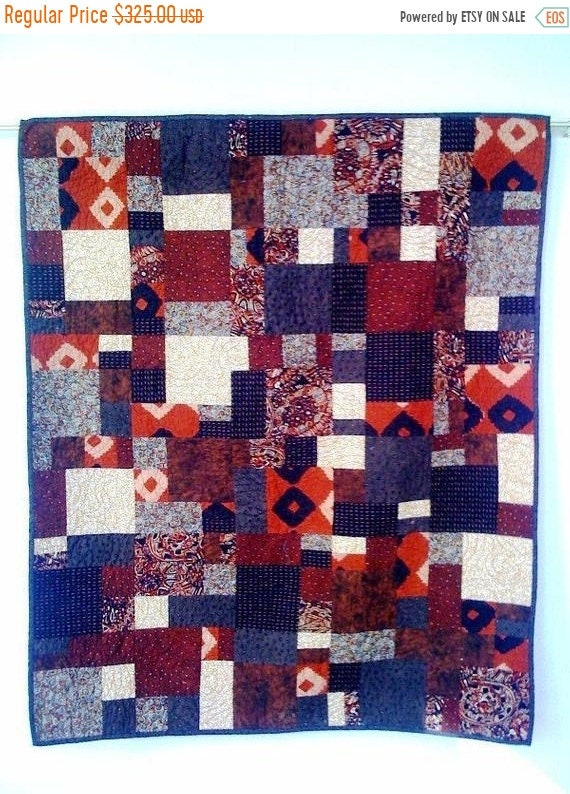 On Sale Hot Chocolate, 38 x 45 inch wallhanging quilt, 2008