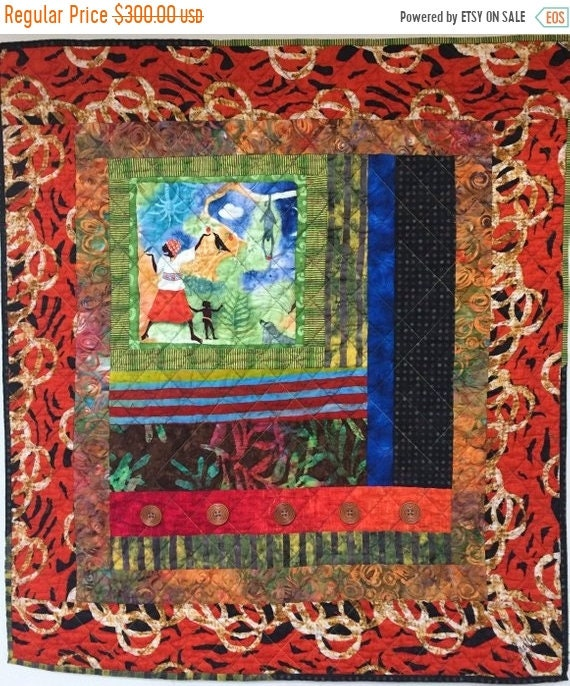 Almost Fall Sale Grateful For Another Happy Day #5 art quilt