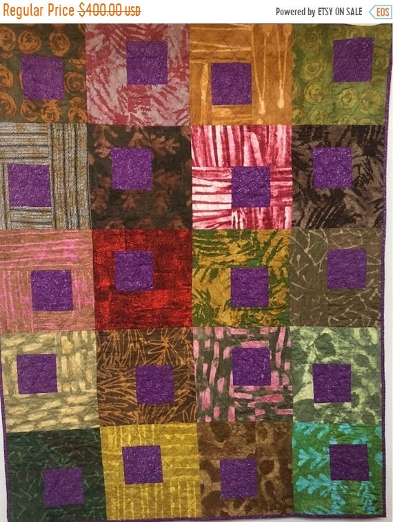 FALL SALE Be Regal 42x53 inch art quilt