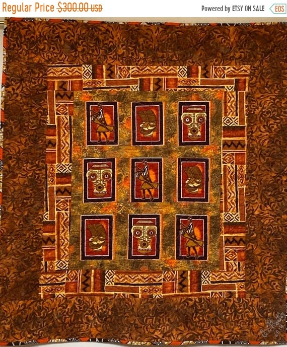Black History Sale How Do I Look? a 34x37 Inch Quilted Wallhanging