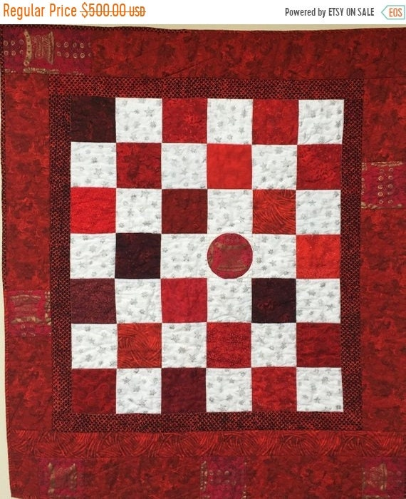 ON SALE Trying To Fit In 37x43 inch art quilt