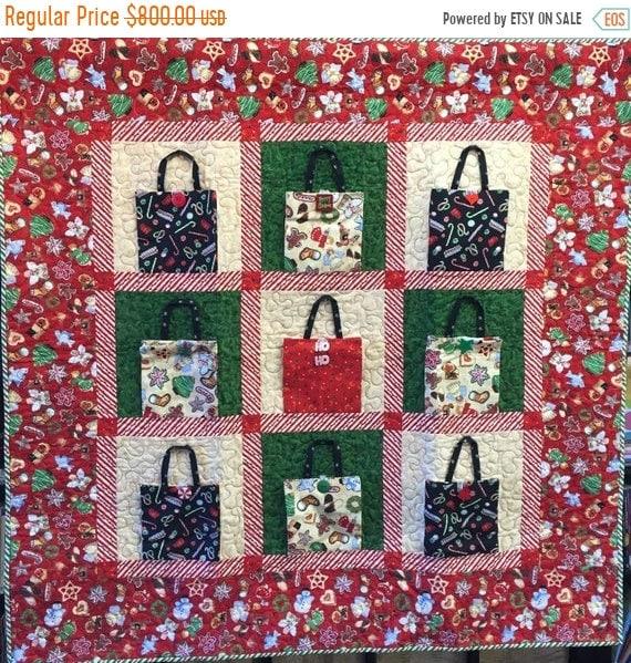 ATL QUILT FEST Christmas Shopping 48x48 inch art quilt