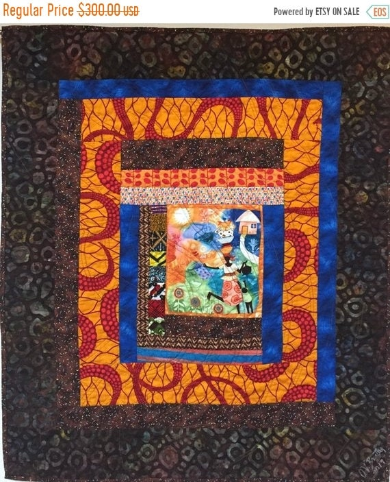 ON SALE Grateful For Another Happy Day #4 art quilt